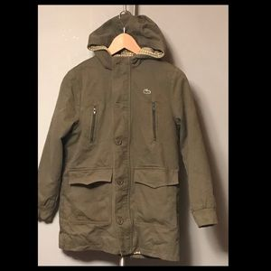 Lacoste Olive Green Jacket Boys Size 10
